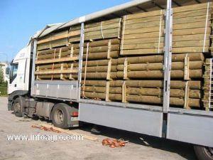 Se vende de rollizos de madera torneada tratada en autoclave - Postes de madera tratada ...
