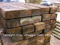 Poste tornedos tutores de z p d maderapol tutores de - Postes de madera tratada ...