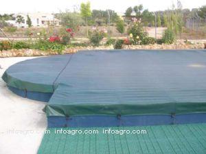 Cubiertas piscina estanques balsas riego lista de for Cubierta estanque