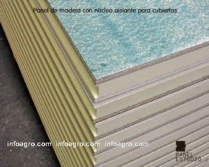 Panel de madera decorativa con aislamiento para tejados de for Aislante para tejados