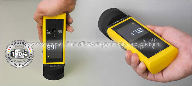 Medidor de humedad en materiales suelos y paredes hasta 30 cm de profundidad trotec t610 - Detector de humedad para suelos y paredes ...