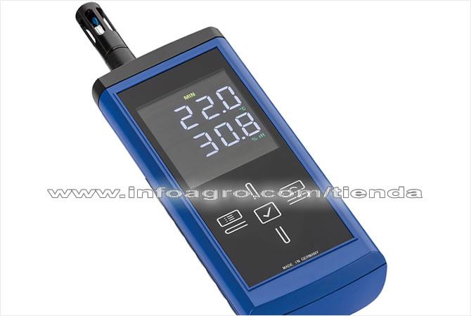 Medidor de temperatura humedad ambiental y punto de roc o - Medidor de humedad ...