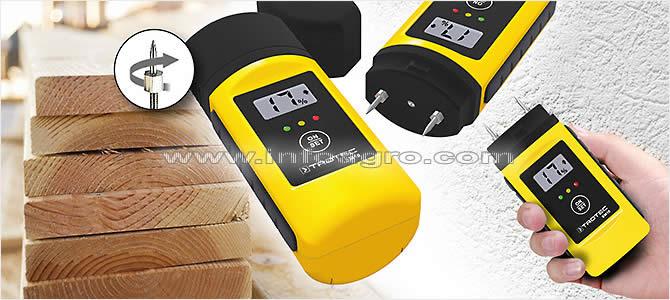 Higr metro econ mico para madera y materiales de construcci n trotec bm18 tienda on line - Detector de humedad para suelos y paredes ...