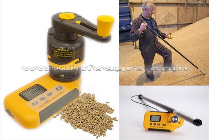 Medidor de humedad y temperatura en grano grano empacado for Medidor de temperatura y humedad digital