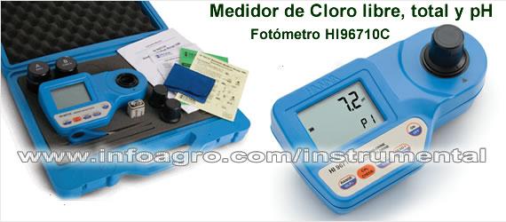 Medidor port til de cloro libre cloro total y ph hi - Cantidad de salfuman para bajar ph piscina ...