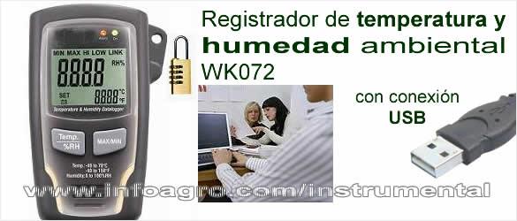 Medidor y registrador de temperatura y humedad usb wk072 tienda on line - Aparato para la humedad ...